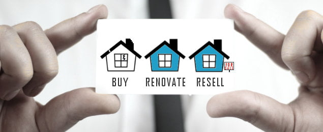 Three houses, buy renovate sell